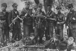 "The squad of Corporal ""Muszka"" from the 27 Volhynian Infantry Division of the Home Army, 1944."