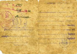 ID (Ausweiss) issued on February 1, 1943 to Józef Filipowicz domiciled in Poryck (Pawlice).