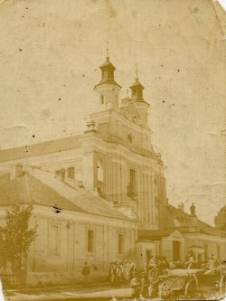 The parish church in Poryck during the interwar period.