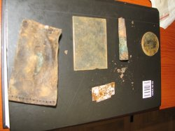 Objects retrieved during the exhumation